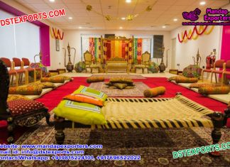 Punjabi Cultural Mehndi Stage Decoration