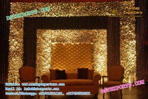 Wedding Leather Tufted Brownish Panels