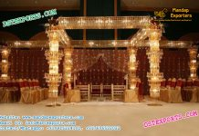 Wedding Stage Fully Crystal Mandap