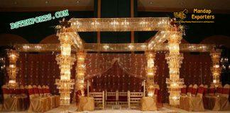 Wedding Stage Fully Crystal Mandap