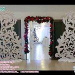 White Theme Wedding Entrance Decoration