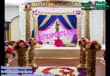 Exclusive Wedding Golden Carved Mandap USA