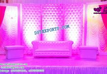Asian Wedding Leather Tufted Panels