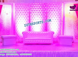Asian Wedding Leather Tufted Panels