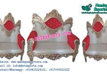 Asian Wedding Wooden Metal Carved Furniture