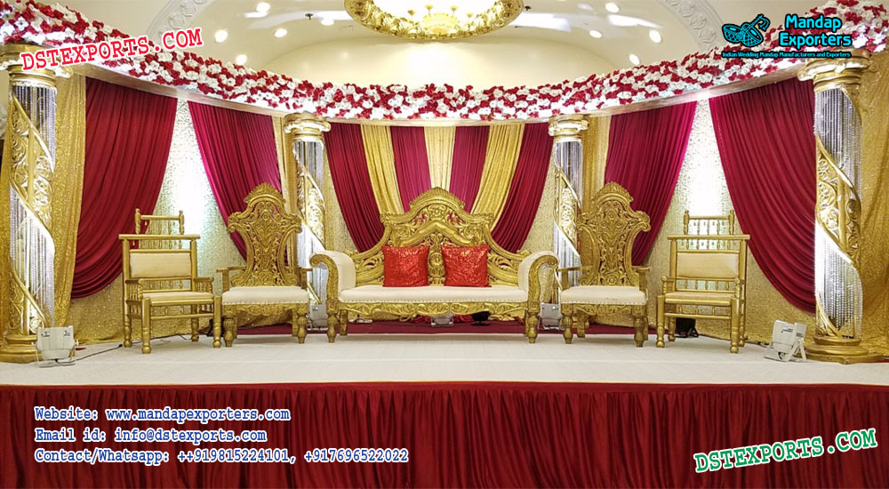 Best Designed Asian Wedding Stage Decor Canada – Mandap Exporters