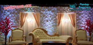 Boston Wedding Flower Wall Stage Decor