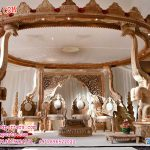 Buy Elephant Trunk Pillar Wooden Mandap UK