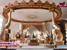 Buy Elephant Trunk Pillar Wooden Mandap UK