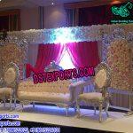 California Floral Theme Wedding Stage Setup