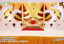 Canadian Wedding Stage Decor With C Style Panels