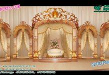 European Wedding Crown Style Stage Decor