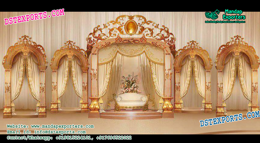 European Wedding Crown Style Stage Decor
