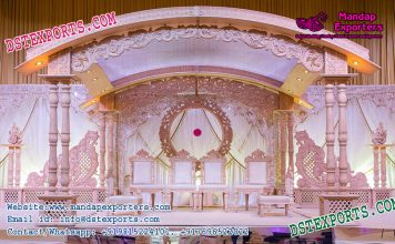 Exclusive Wedding Wooden Carved Mandap