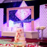 Fabulous Wedding Stage Leather Tufted Panels