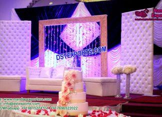 Fabulous Wedding Stage Leather Tufted Panels