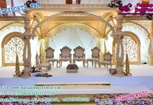 Glamorous Wedding Wooden Mandap Decor