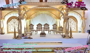 Glamorous Wedding Wooden Mandap Decor