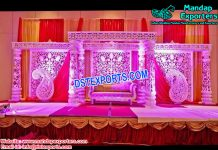 Grand Look Fiber Carved Mandap Set