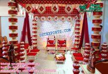 Hindu Wedding Latest Pot Pillars Mandap Set