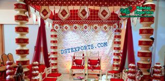 Hindu Wedding Latest Pot Pillars Mandap Set