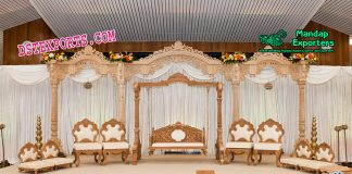 Imperial Wedding Wooden Stage Set