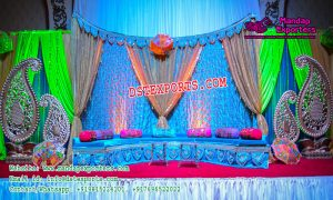 Indian Wedding Sangeet Stage Decoration