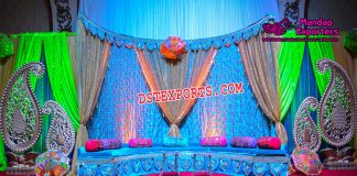 Indian Wedding Sangeet Stage Decoration