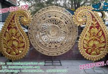 Indian Wedding Stage Round Panels Decoration
