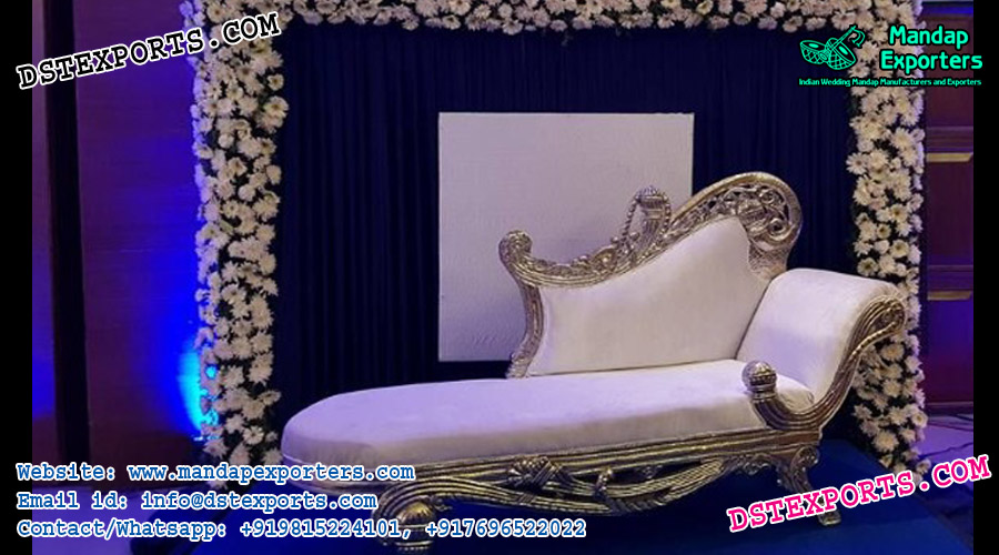 Italian Style Wedding Silver Couch