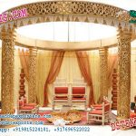 Latest Wedding Golden Fiber Mandap