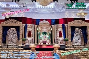 Mughal Theme Wedding Stage Setup