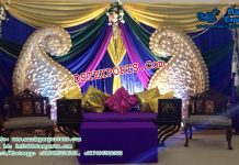 Muslim Mehandi Stage Decor With Paisleys Panels