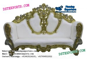Muslim Wedding Metal Carved Couch