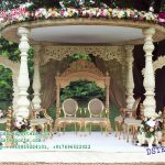 Open Area Wooden Look Fiber Mandap
