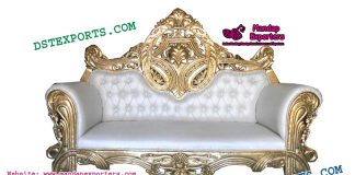 Prominent Wedding Metal Carved Couch