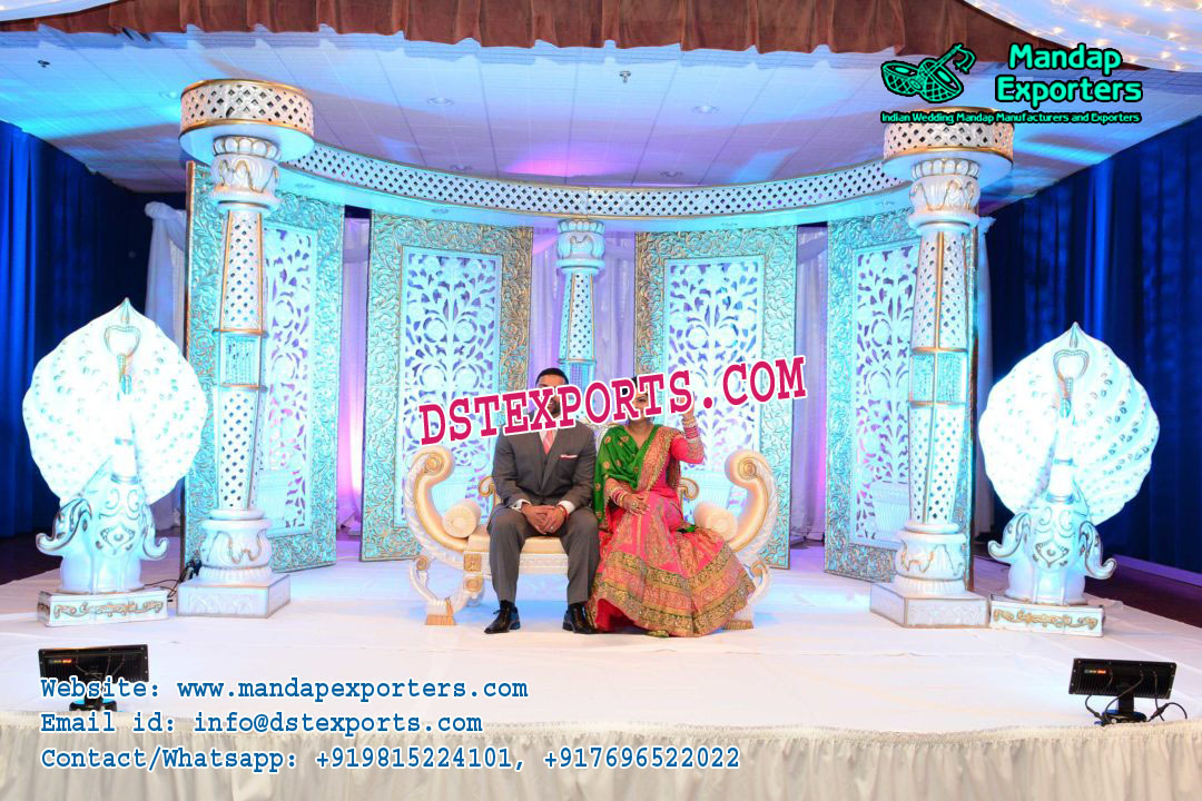 Prominent Wedding Stage Backdrop Panels Mandap Exporters