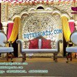 Rajwada Style Wedding Stage Set Decor
