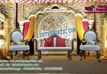 Rajwada Style Wedding Stage Set Decor