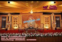 Royal Canadian Wedding Stage Decor