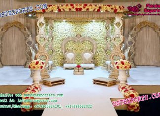 Royal Look Wooden Carved Mandap Toronto