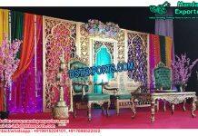 Royal Mehndi Sangeet Night Decoration