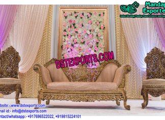 Royal Muslim Wedding Stage Furniture Set