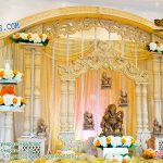 Royal Wedding Entrance Decor With Ganesha Statues