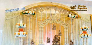 Royal Wedding Entrance Decor With Ganesha Statues