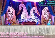 Punjabi Style Mehndi Stage with Statues