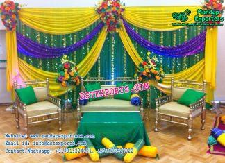 Simple Wedding Mehandi Stage Decoration