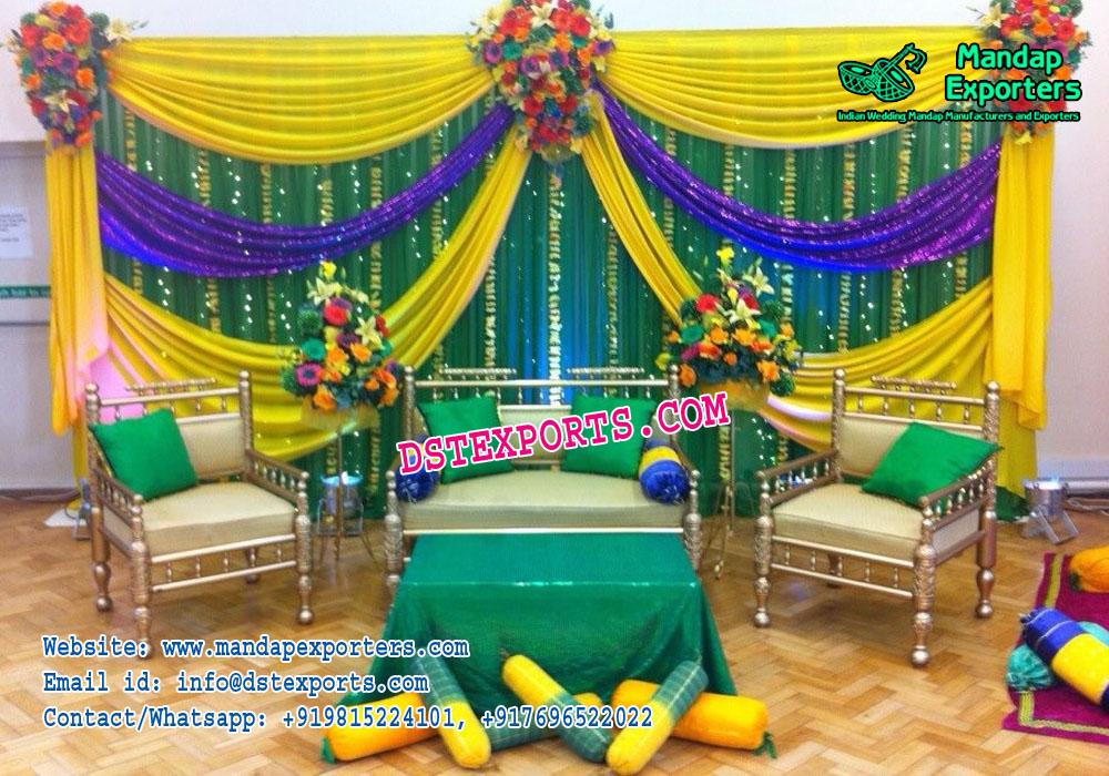 Simple Wedding Mehandi Stage Decoration Mandap Exporters