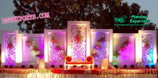Stylish Wedding Stage Backdrop Panels