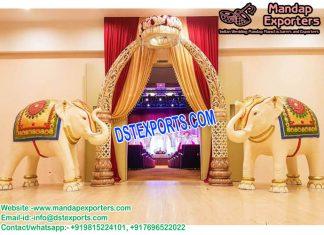 Wedding Fiber Elephnat Entrance Decor